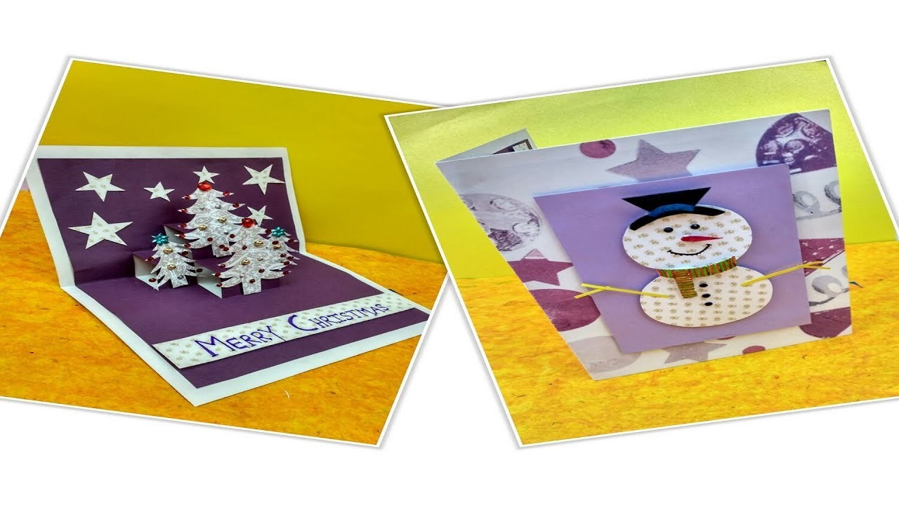 Snowman Christmas Cards Diy.Diy Christmas Cards Handmade Greeting Card 3d Pop Up