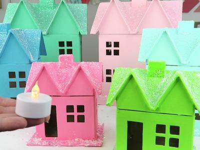 DIY Christmas Decorations For Kids | Christmas Village Houses