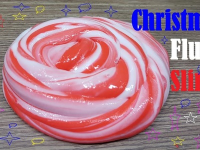 DIY Christmas Fluffy Slime How To!!, Christmas Fluffy Slime