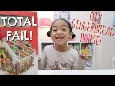 DIY CHRISTMAS GINGERBREAD HOUSE *Gone Wrong*