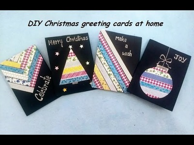 DIY Christmas greeting cards at home
