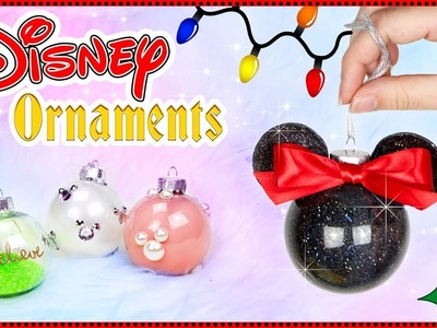 DIY DISNEY Inspired CHRISTMAS ORNAMENTS | XMAS Tree Crafts  ⛄️