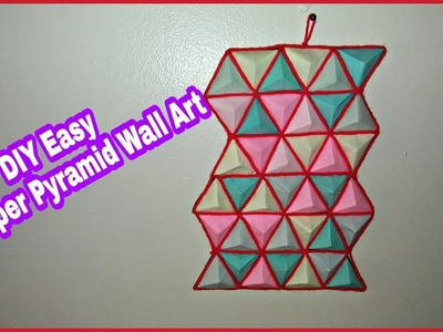 DIY Easy 3D Paper Pyramid Wall Art