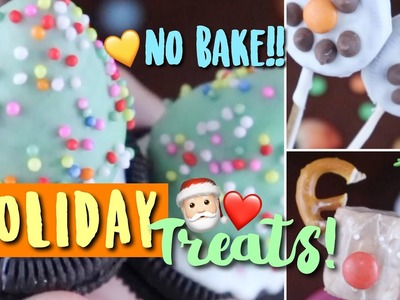 DIY Easy No Bake Holiday Treats & Christmas Snacks!! Easy & Affordable!