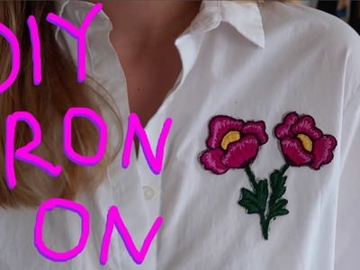 DIY EMBROIDERED APPLIQUES - Make your own iron on patches!