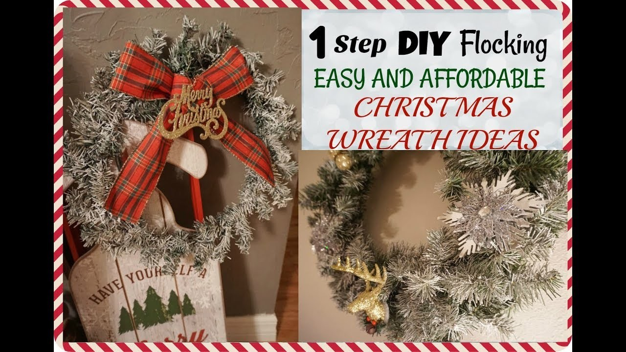 DIY FLOCKED WREATH| EASY LAST MINUTE DIY CHRISTMAS DECORATIONS| Megan Navarro