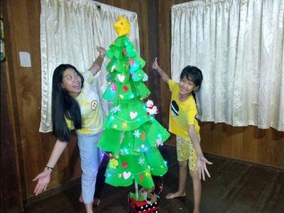 DIY Giant Paper Christmas Tree