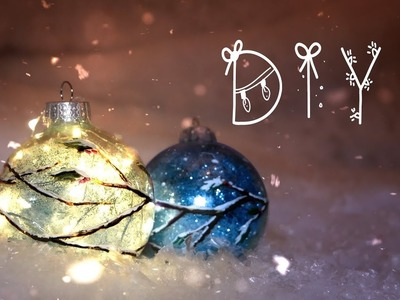 DIY Glowing Winter and Christmas Decorations!