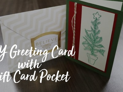 DIY Greeting Card with Gift Card Pocket | ShopWithScrip