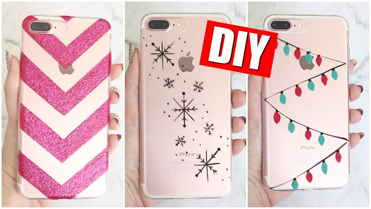 DIY HOLIDAY PHONE CASES FOR CHRISTMAS | 25 DIYs Of Christmas DAY 14