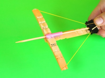DIY Mini Crossbow with Clothespins