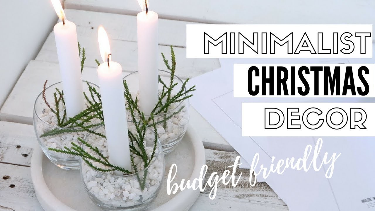 DIY Minimalist Christmas Decorations | Christmas 2017