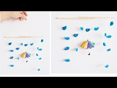 DIY Paper Quilling Wall decoration 4. quilling wall mobile. Quilling weather