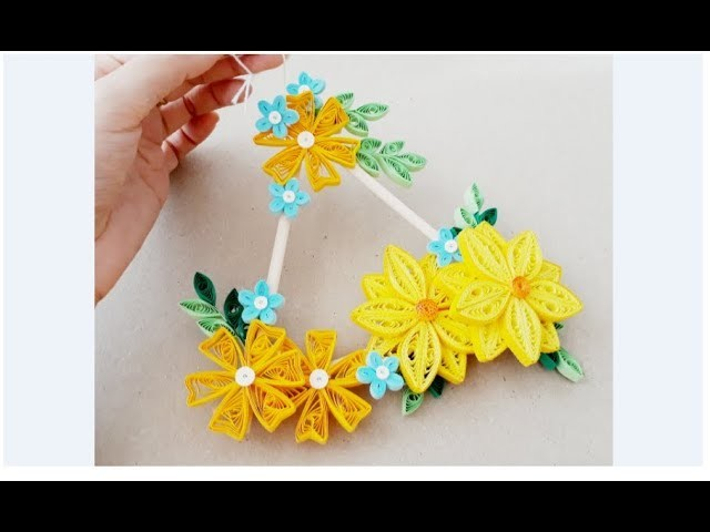 DIY Paper Quilling Wall decoration 12. quilling wall mobile ...