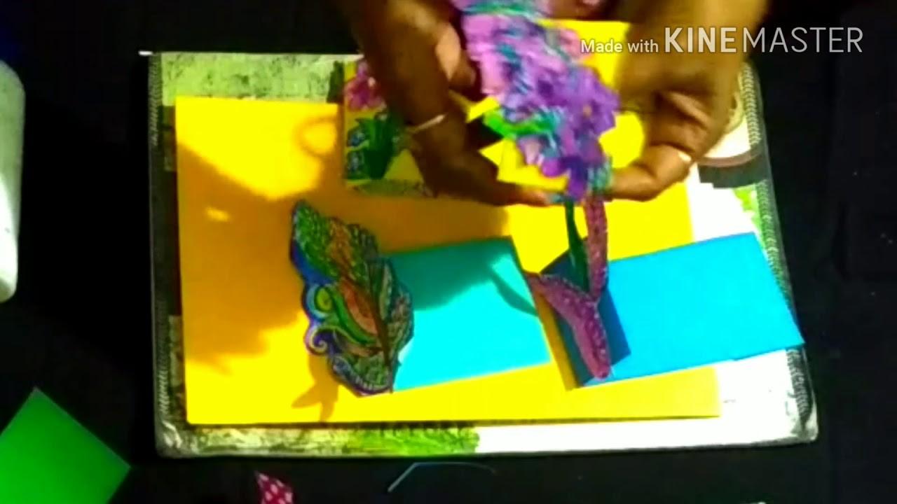 DIY part 2 - best use of remaining part of wedding card monikaarttutorial monika art tutorial