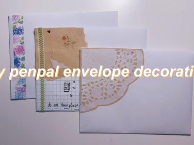 DIY penpal envelope decorating ideas
