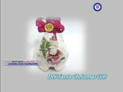 DIY  Santa Christmas Gifts.Plastic Bottle  gift.Best out of waste.Christmas gits ideas