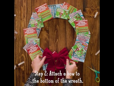 DIY Scratch-offs Wreath