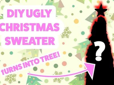 DIY Ugly Christmas Sweater (TURNS INTO TREE)