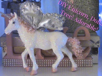 DIY Unicorn Dollar Tree Inspired, Super Cute!