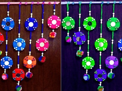 DIY - Wall hanging home decoration idea - Make wall hangings at home with woolen and tea cup