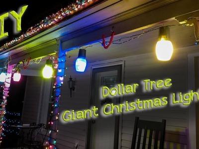 Dollar Tree DIY Giant Christmas Lights