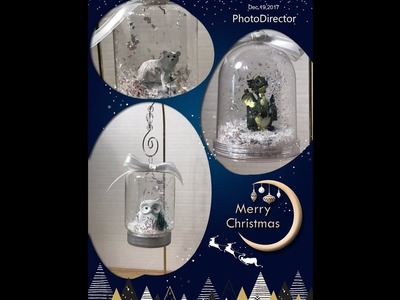 Dollar Tree Mason Jar Ornaments AC Moore Cloche DIY 12 Days of Christmas Day 7