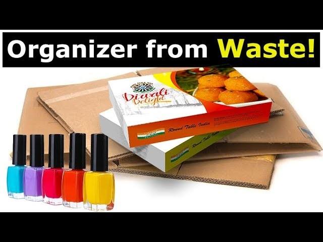 Easy Best Out Of Waste DIY Organizer | DIY Desk Organizer | Crafts from Waste!