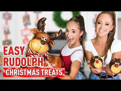 Easy DIY Christmas Rudolph Treats! Holiday Cupcake Recipe! | The Rybka Twins