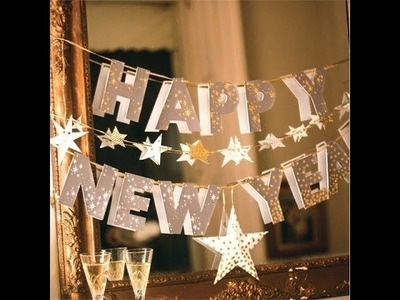 Easy DIY New Year's Eve Party Room Decor & Accessories 2017