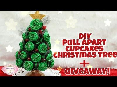 Giveaway | DIY pull apart cupcakes christmas tree | Christmas tree | pull apart cupcakes