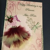 Hand crafted personalised greeting card.
