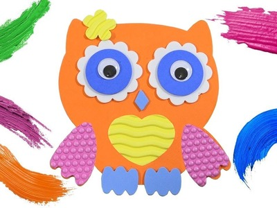 How To Make a Cute Owlet. DIY Crafts for Kids. Learn Colors