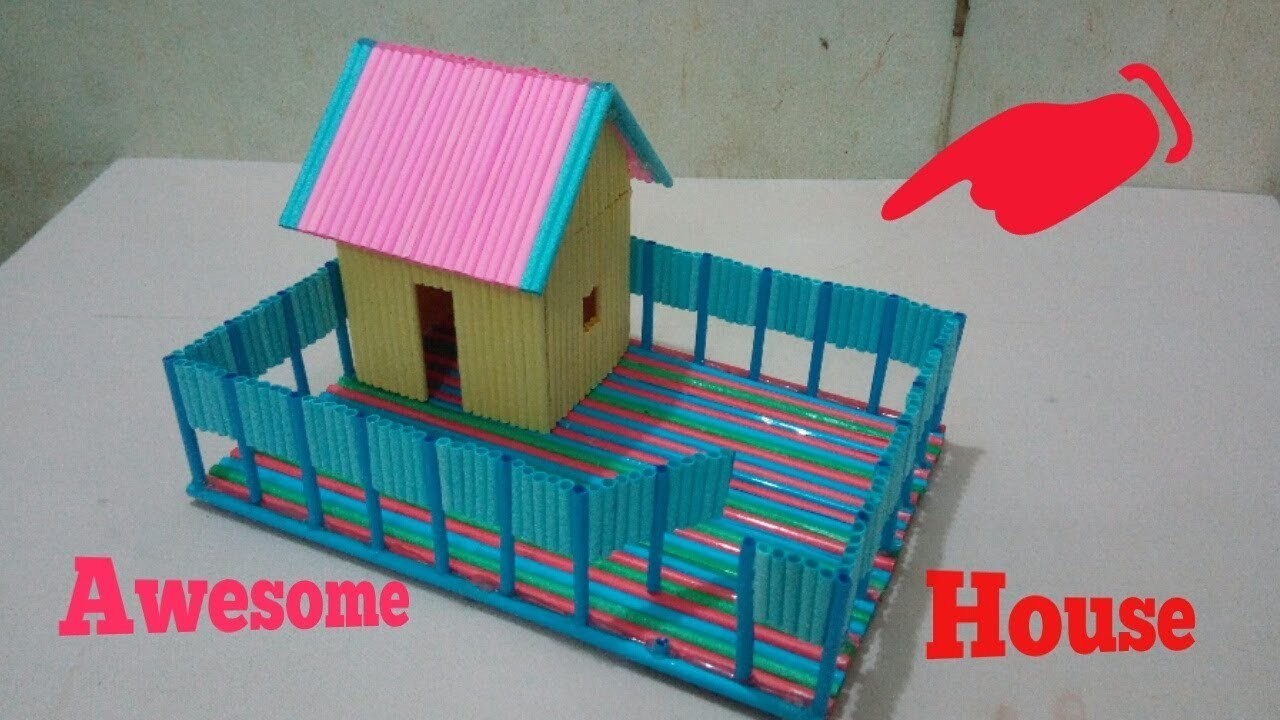 How to make a paper House,,Awesome ideo with paper,,,very easy