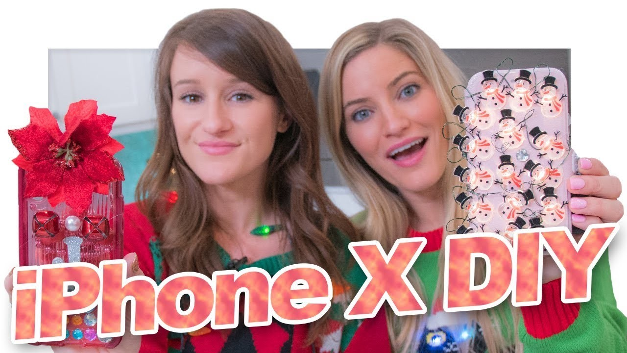 IPhone X DIY Holiday Cases!