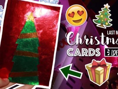 LAST MINUTE CHRISTMAS CARDS DIY IDEAS ( INDONESIA ) | Kartu Natal 2017. WendySeto