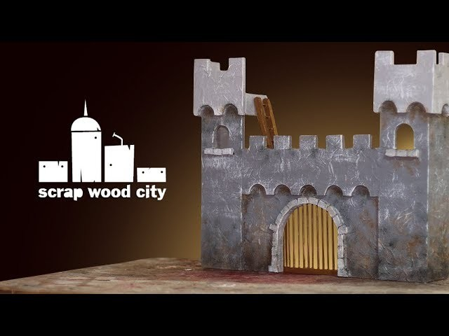 Making a toy castle out of plywood and paper mache