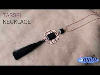 Making jewelry - Tassel Necklace (DIY tutorial by Sayila)