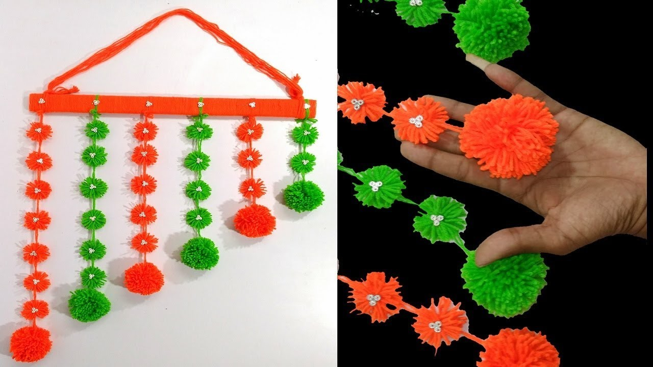 New wall hanging crafts ideas decorations diy with pom pom wall decor easy ideas
