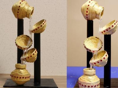 Newspaper Waterfall Showpiece - DIY Crafts