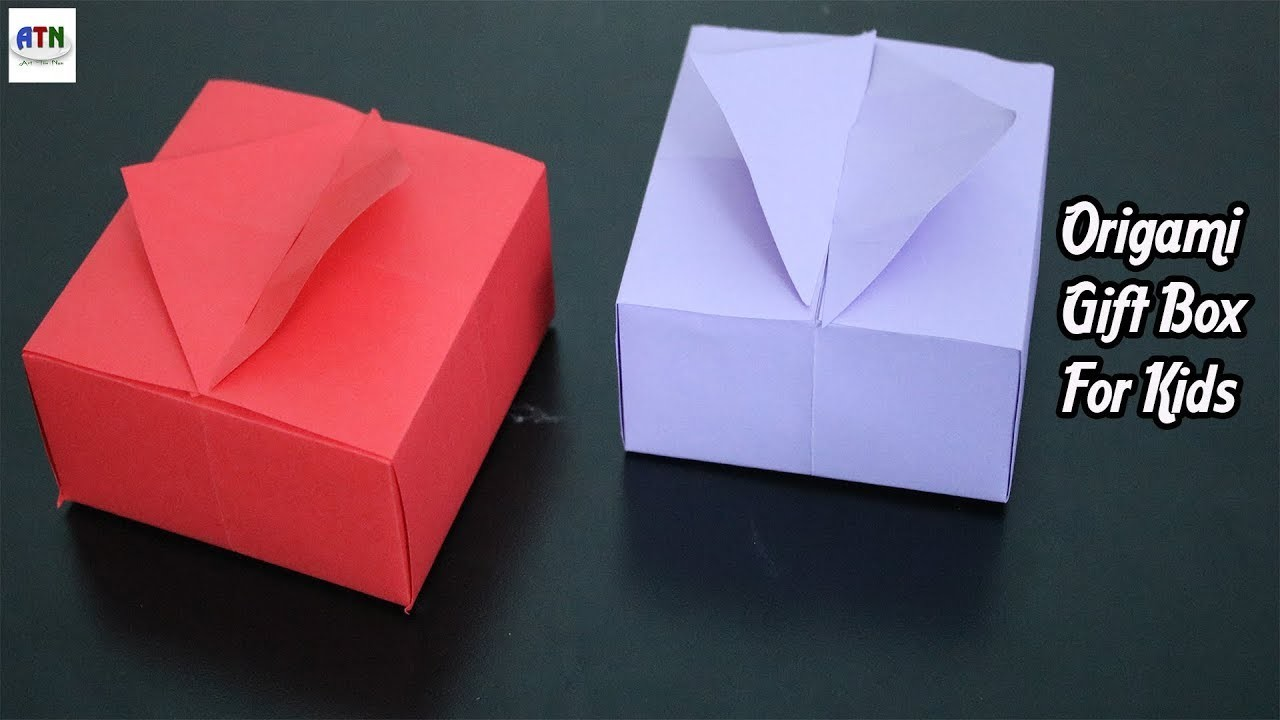Origami Gift Boxes With One Sheet Paper For Kids
