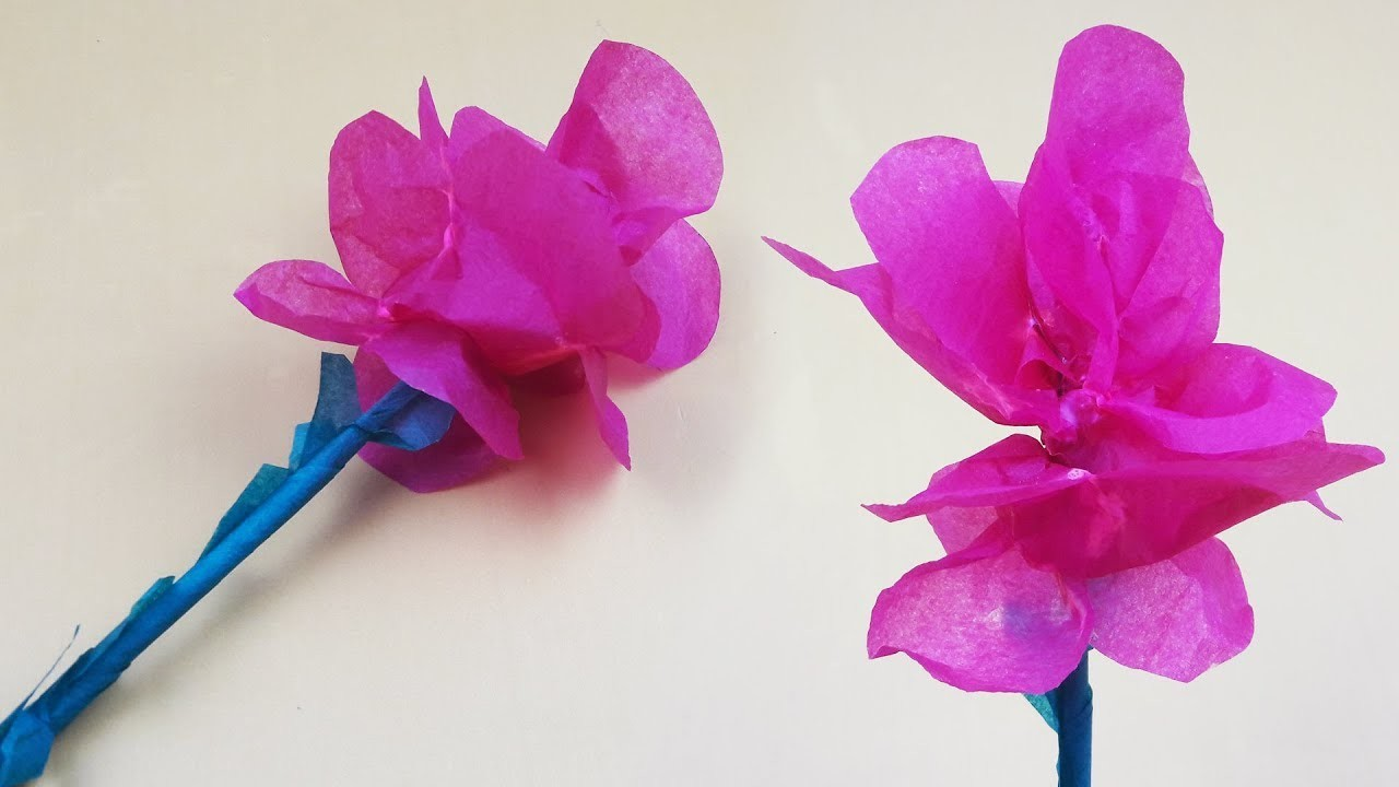 Girl origami tissue paper flower and making nice process tissue girl origami tissue paper flower and making nice process tissue paper flower origami zone izmirmasajfo