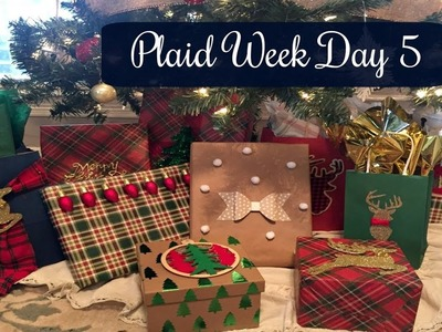 PLAID WEEK DAY 5 | DOLLAR TREE DIY: Plaid Gift Wrapping PT 2