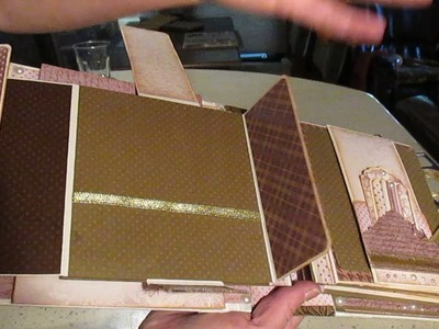 Scrapbooking 2 ring binder album Vintage Library paper collection