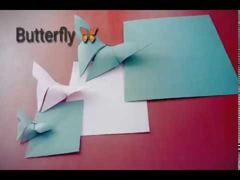 Simple Origami Butterfly Step By For Beginners Paper Folding