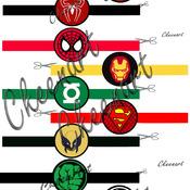 Super Hero 15 Napkin Rings Paper Digital Download