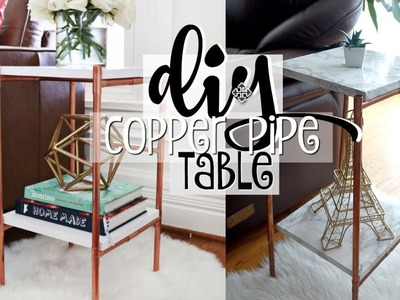 TESTING PINTEREST DIY COPPER PIPE MARBLE TABLE | EASY DIY