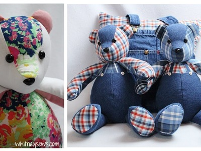 The BEST Memory Bear Sewing Tips | How to Make Perfect Memory Bears ???? | Whitney Sews