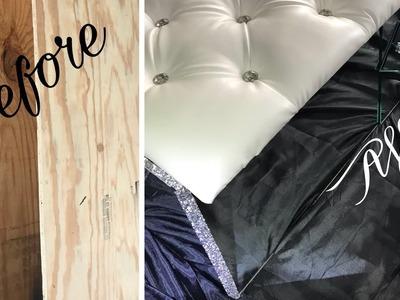 Tufted & Mirror Storage Bench DIY.Chymarie.Home Decor DIY.DIY