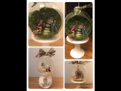 12 Days of Christmas Day 8 -HUGE Beautiful Cloche Style Ornaments using Dollar Tree Michaels Joann's